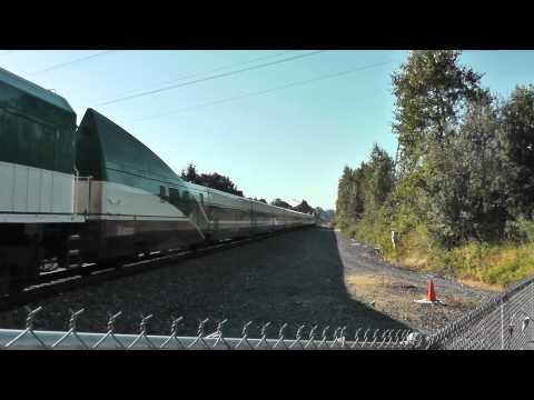 Super Rare! SOUNDER Train with Amtrak P42 & Amtrak Cascades Talgo, Train Meet.
