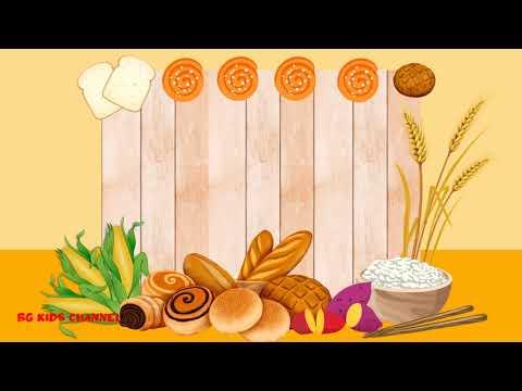 6 แบบ Background free download แจกฟรี วีดีโอพื้นหลังสอนออนไลน์น่ารักสดใส# อาหารหมู่ 2 คาร์โบไฮเดรต