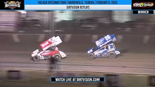World of Outlaws NOS Energy Drink Sprint Cars | Volusia Speedway Park 2/9/20