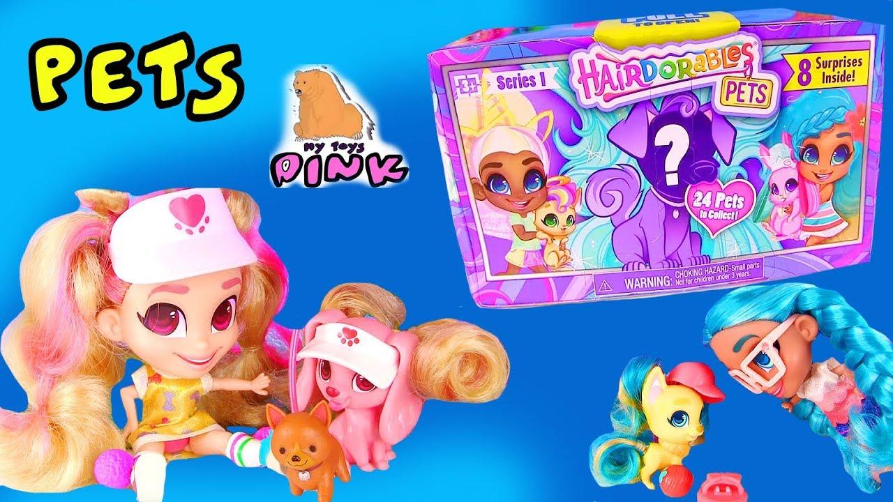 СОБИРАЕМ СЕМЕЙКИ КУКОЛ Hairdorables! PETS! ПИТОМЦЫ 1й Серии! Мультик с Игрушками #Surprise Toys