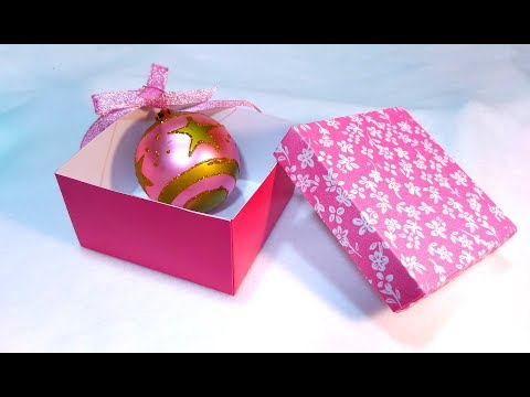 Super easy Christmas gift box. Make your own paper box for gifts, trinkets or jewelry