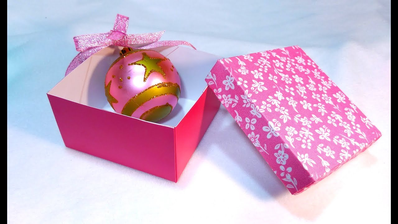 Super Easy Christmas Gift Box Make Your Own Paper Box For Gifts Trinkets Or Jewelry