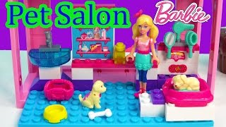 Mini Barbie Doll Puppy Dog Pet Salon Playset Mega Bloks Animal Care Set Toy Review Build