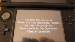 r4i sdhc 3ds rts problem an error has occurred