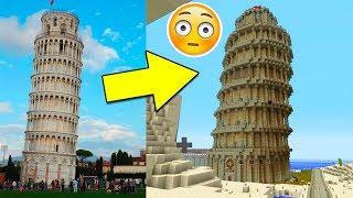 MINECRAFT VS VIDA REAL - Construcciones reales hechas en Minecraft