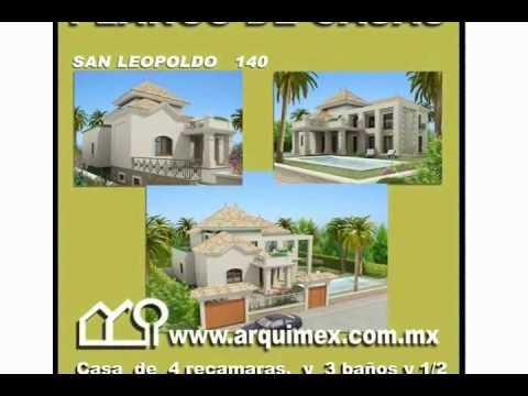 Planos de casas modelo san leopoldo 140 arquimex planos for Planos de casas youtube