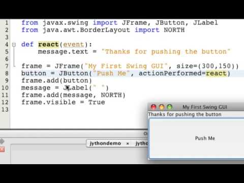 A Graphical User Interface with Jython and Swing