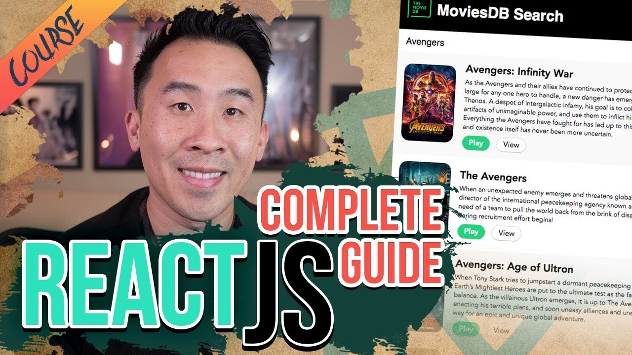 ReactJS Complete Getting Started Guide - Movies Search with MovieDB API