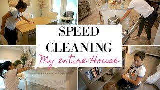 SPEED CLEAN WITH ME | WHOLE HOUSE | CLEANING MOTIVATION