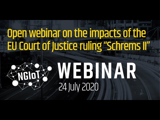 Open webinar on the impacts of the EU Court of Justice ruling