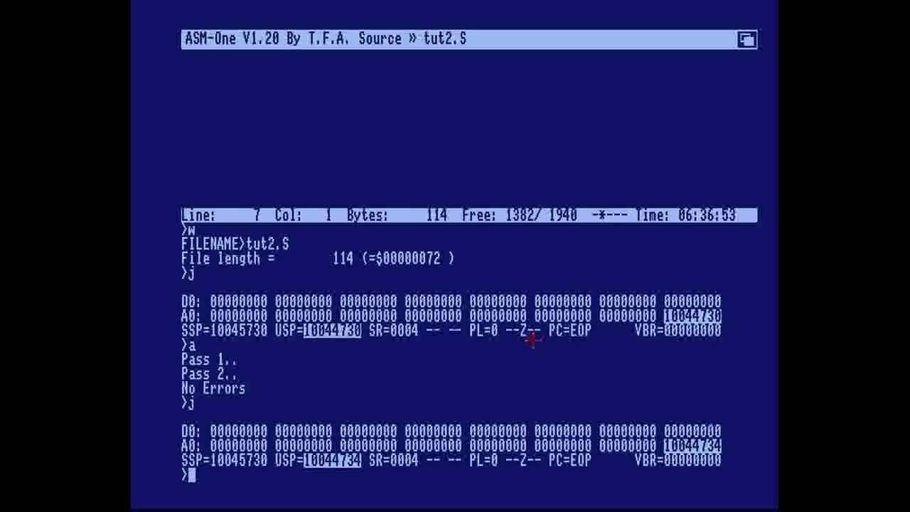 Amiga Hardware Programming 2 - Make a rasterline