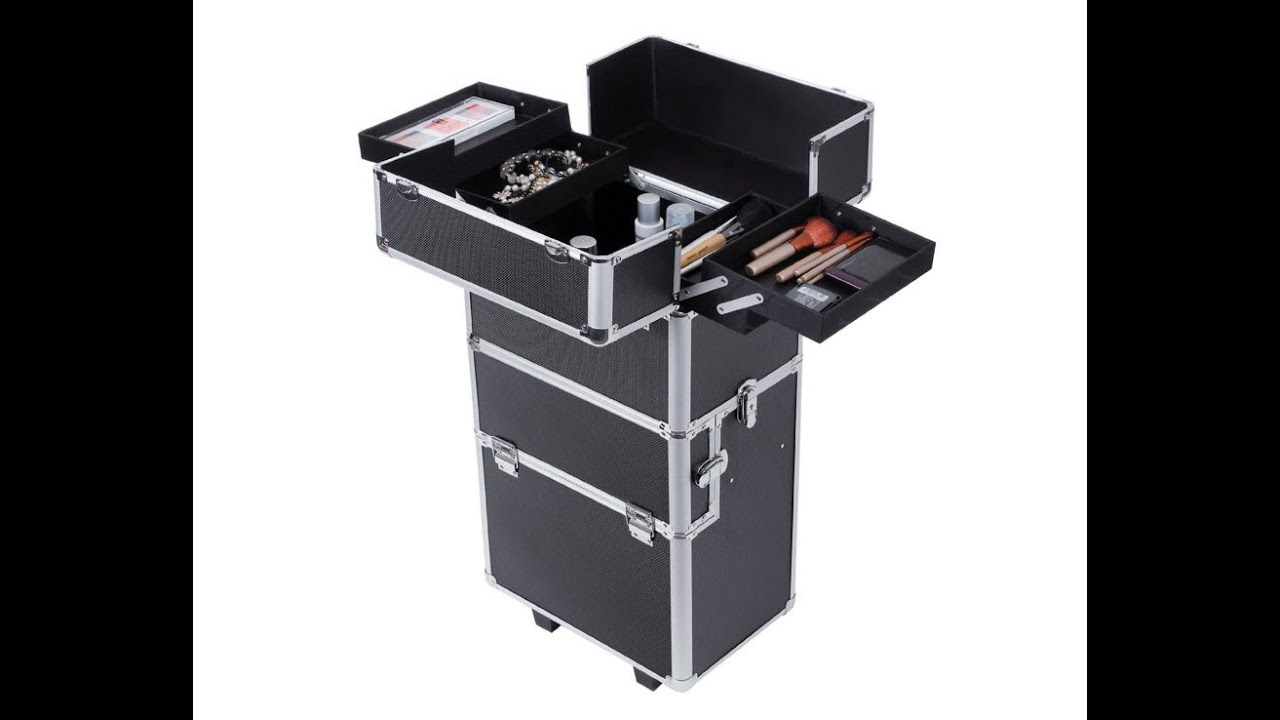 925a88ed2 Review Songmics Maleta maquillaje Trolley 2 in 1 XXL Profesional ...