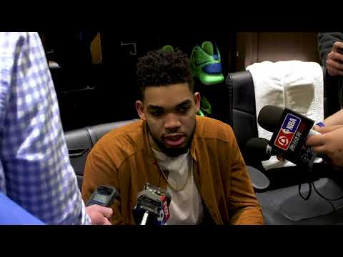 Karl-Anthony Towns Postgame Interview / Timberwolves vs GS Warriors