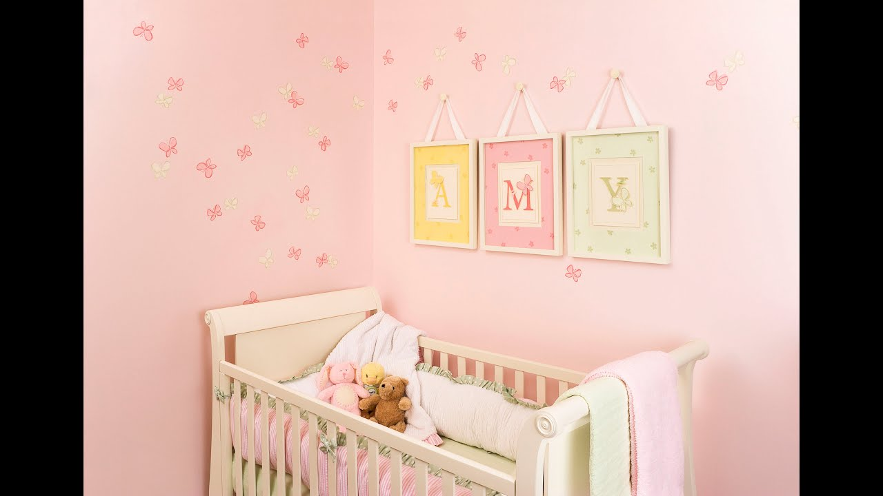 Baby Girl Nursery Ideas With Butterflies awesome baby boy room decorations - youtube