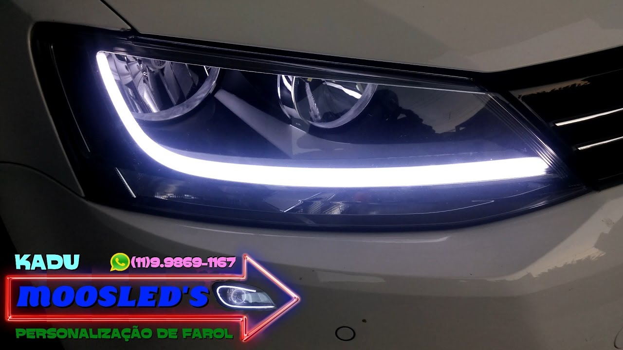 Barra De Led Cont 205 Nua Flex 205 Vel No Farol Do Jetta 2011 2012