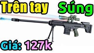 Trên tay đồ chơi súng bắn đạn nước cỡ lớn giá 127k