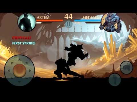 Shadow Fight 2 - Бой с Вулканом И Мегалитом