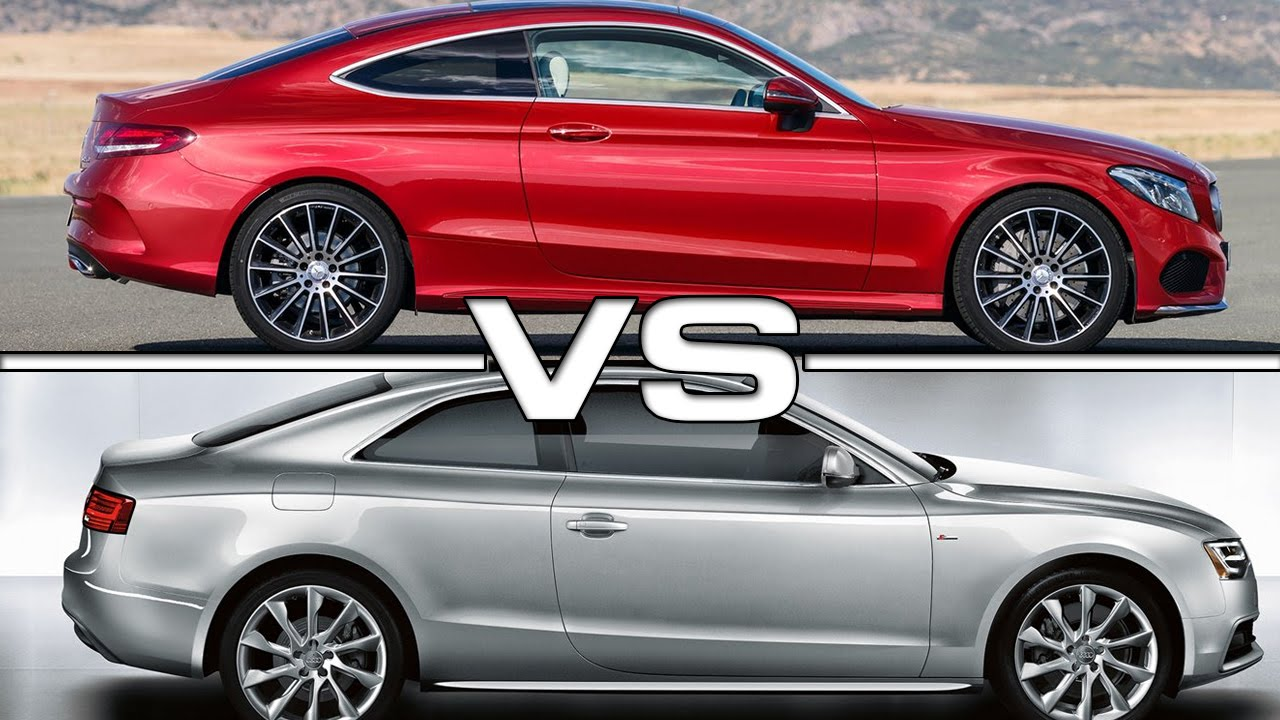Mercedes-Benz C-Class Coupe vs Audi A5 Coupe - YouTube