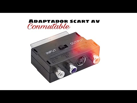 Video de Adaptador SCART AV conmutable  Negro