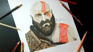 Cómo Dibujar a KRATOS de GOD OF WAR 4/How To Draw KRATOS-MagicBocetos-Tutorial Paso A Paso