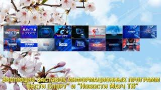 """Эволюция заставок информационной программы """"Вести спорт""""/""""#Новости"""""""