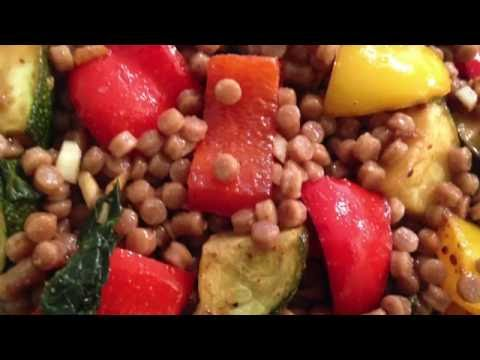 Israeli Couscous With Grilled Summer Veggies