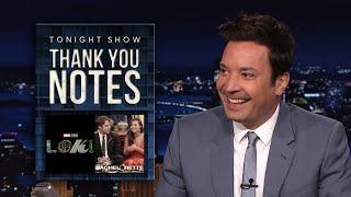 Благодарственные письма: Loki Charms, The Bachelorette | Вечернее шоу с Джимми Фэллоном в главной роли