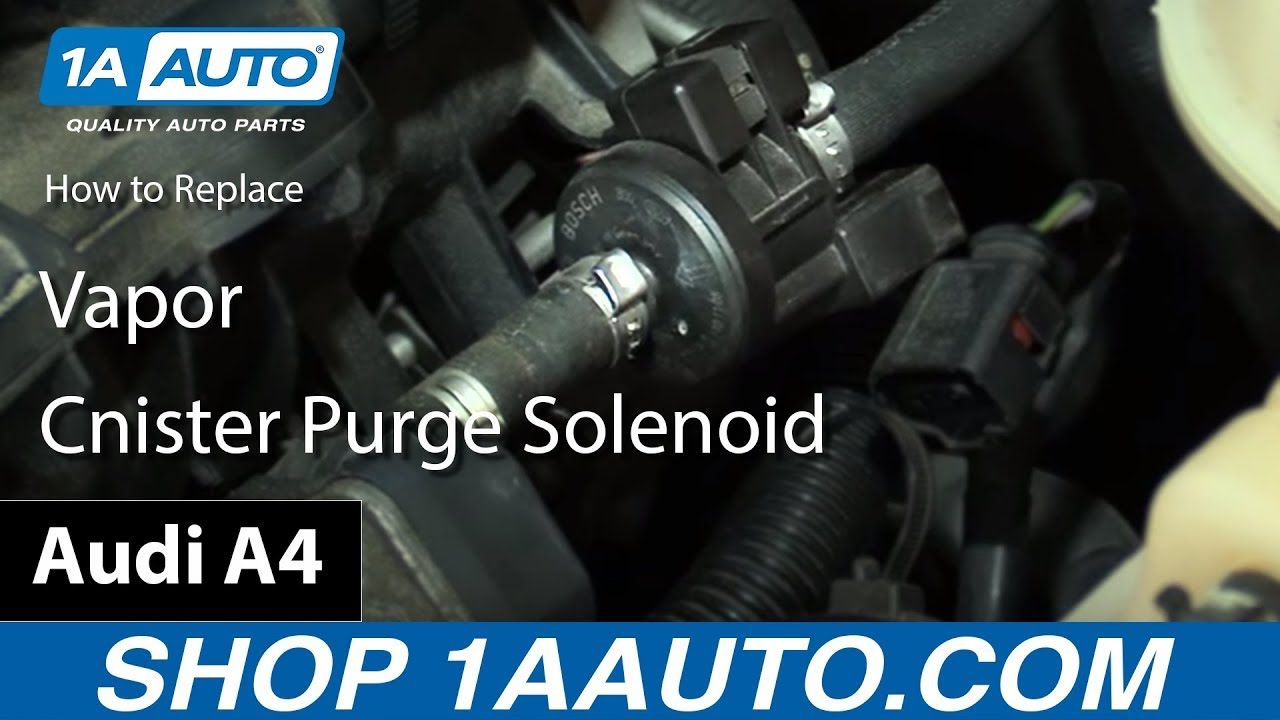 how to replace vapor canister purge solenoid 05 09 audi a4 [ 1280 x 720 Pixel ]