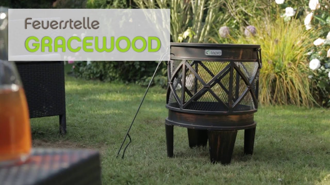 tepro feuerstelle gracewood youtube. Black Bedroom Furniture Sets. Home Design Ideas