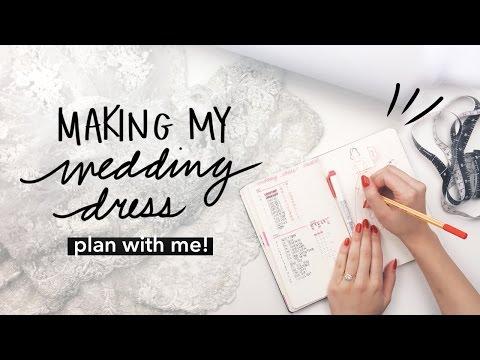 Plan With Me: DIY Wedding Dress in Bullet Journal | WITHWENDY