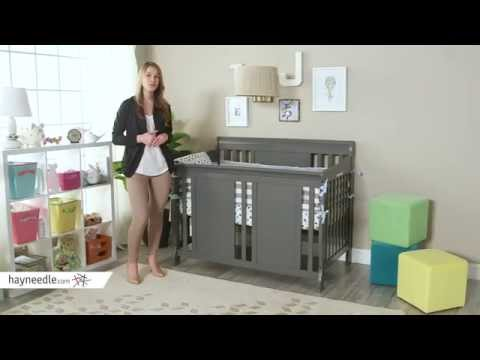 Thomasville Dover 3 in 1 Convertible Sleigh Crib - Gray - Product Review Video