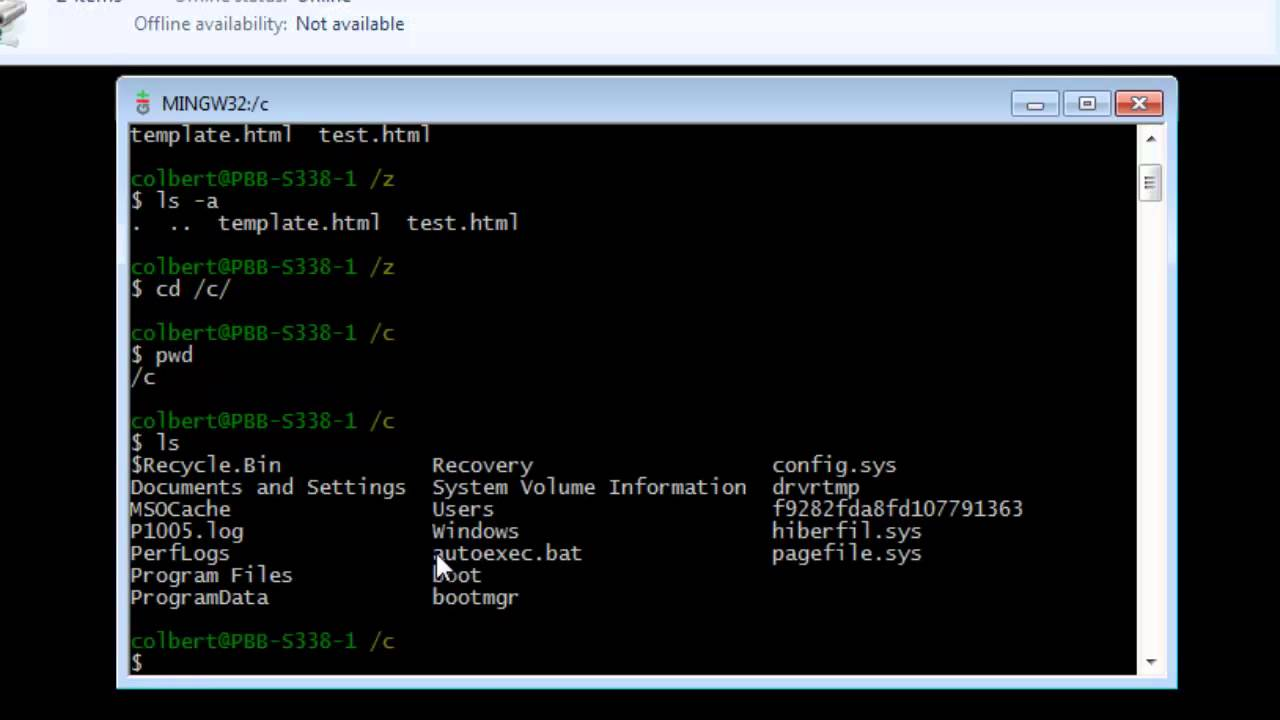 git bash for windows