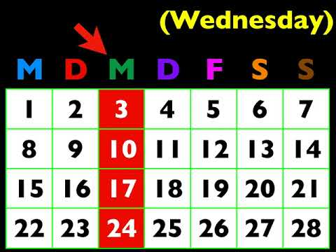 Let's Learn German! Lesson 41: days of the week, today, tomorrow, & yesterday