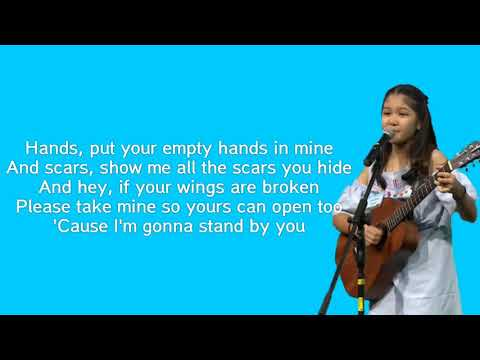 Rachel Platten - Stand By You ( Lirik ) by Charisa Faith Idol Junior 2018