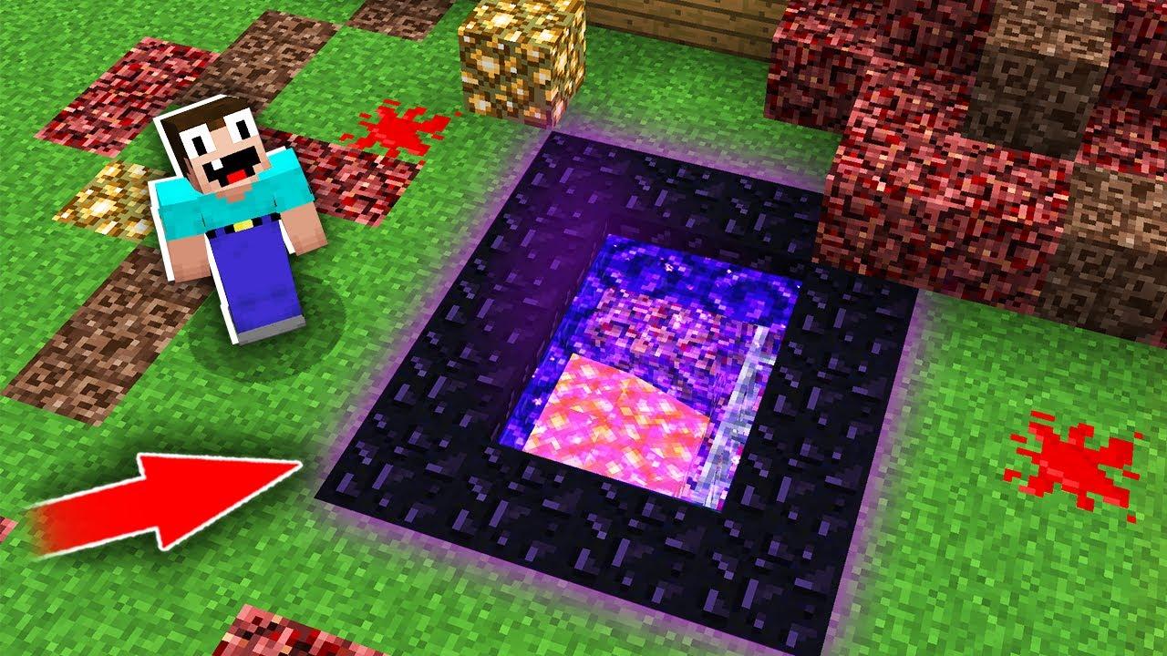 Minecraft NOOB vs PRO: HOW NOOB BUILD THIS STRANGE PORTAL UNDERGROUND? Challenge 100% trolling