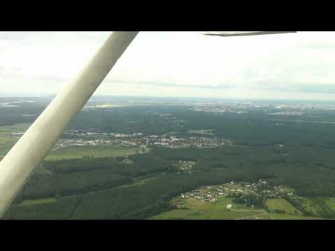 Flight Liepaja-Riga Cessna 172N Pilot School