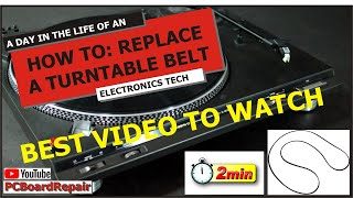 How to Change a Technics Turntable Belt in Two Minutes or Less