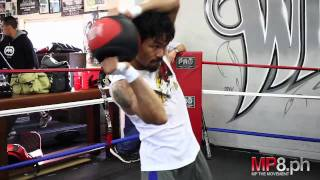 Manny Pacquiao - Manny does Strength Exercises with Alex Ariza