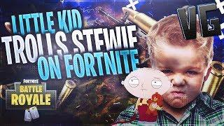 Little Kid Trolls Stewie On Fortnite!