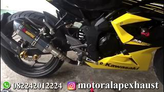 Knalpot Akrapovic Carbon Import Slip On Kawasaki Ninja 250RR Mono