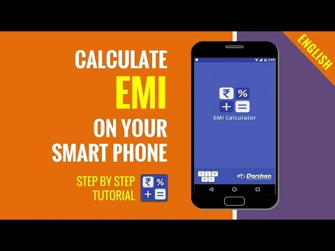 How to calculate loan EMI on Android phone | Useful Android App tutorial | In English
