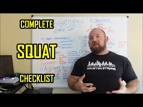 The COMPLETE Squat Checklist - Variations, Accessory, Split, Progressions and more!