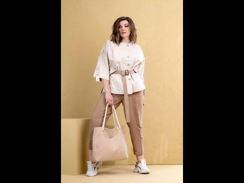 Обзор стильного комплекта из куртки, блузки и брюк DEESSES 3048 | ДИЗАЙНЕРСКАЯ БЕЛОРУССКАЯ ОДЕЖДА