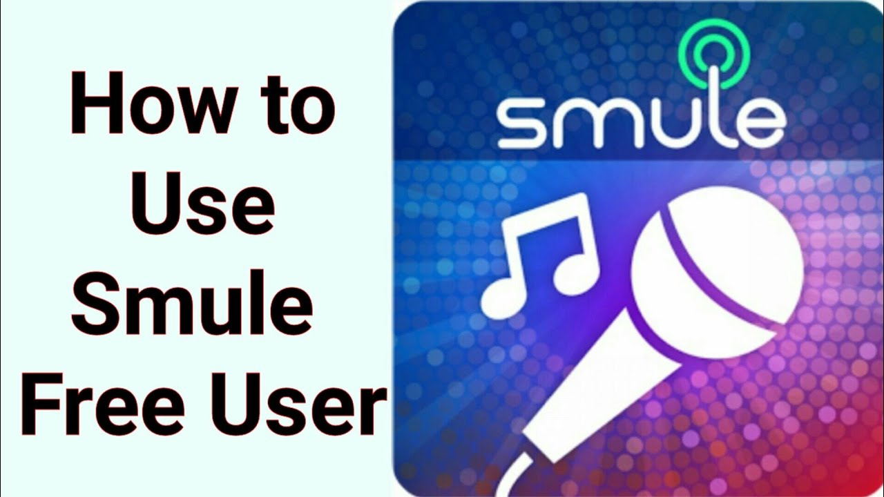 How to use smule   Free user