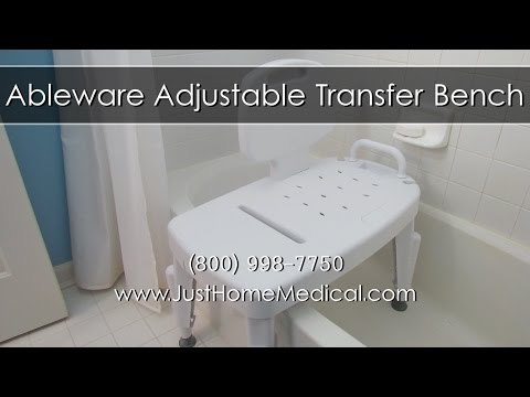 Just Home Medical - Ableware Adjustable Transfer Bench - YouTube
