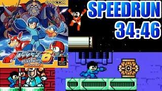 Rockman Complete Works 6 (PS1) (Mega Man 6) Speed Run in 34:46