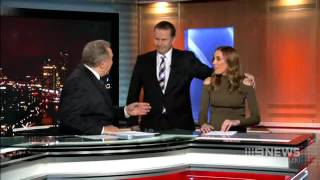 Awkward! Tony Jones once again, rejected by Bec Judd. thumbnail