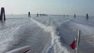 A Water Taxi Ride to Venice Airport