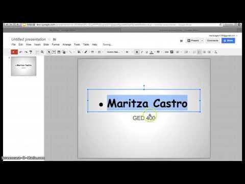 Creating PowerPoint Using Google Docs