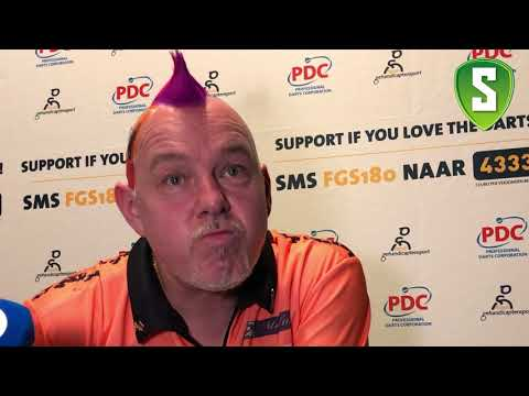 Press Conference Peter Wright after beating Michael van Gerwen - Premier League in Rotterdam